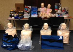 CPR training equipment recently obtained through the Heart Rescue Project
