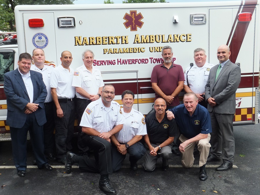 Narberth Ambulance - Haverford Township group shot
